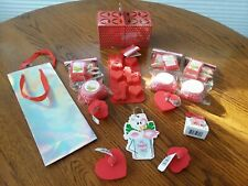 Lot Valentine Baking Party Silicone Mold Cookie Cutters Craft Ribbon Cupcake Red