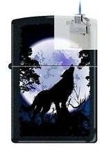 Zippo 0024 wolf howling at moon Lighter & Z-PLUS INSERT BUNDLE