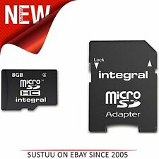 Integral Micro SD Card 8GB with SD Adapter - Class 10 INMSDH8G10