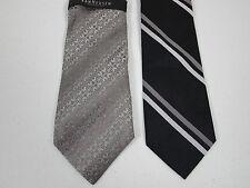 Silk Tie Lot Of 2 Necktie Van Heusen And Merona New 3.5 x 58 Inch