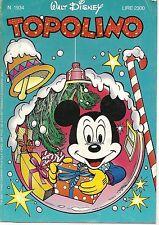TOPOLINO N° 1934 - 30 DICEMBRE 1992