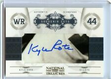 Kyle Rote 2011 National Treasures Souvenir Cuts Autograph /88  WR GIANTS