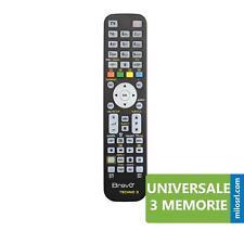 TELECOMANDO UNIVERSALE PER TV TELEVISORE VCR DVD COMPATIBILE DECODER 3 MEMORIE
