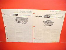 1962 1963 INTERNATIONAL IH SCOUT CO R V TRUCK MOTOROLA AM RADIO SERVICE MANUAL