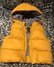 EUC  Baby Boy 12-18 Months BABY GAP Warmest Hoodie Yellow Vest Jacket Coat