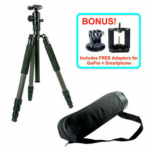 Professional Carbon Fiber Tripod Monopod & Ball Head for DSLR Camera Photo Video