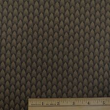 Cotton Sew Quilting Fabric Nature Forest Pine Trees Brown on Black - 1 yd.