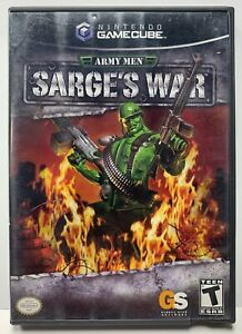 Army Men Sarge's War for Nintendo GameCube Complete CIB NTSC Black Label By GS