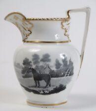 Chamberlain's Worcester attributed  bat printed jug