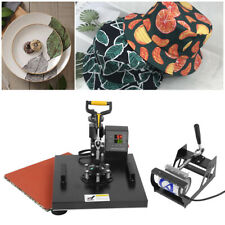6 in 1 Heat Press Machine Transfer Sublimation 38x38cm Printer T shirt Plate Cap