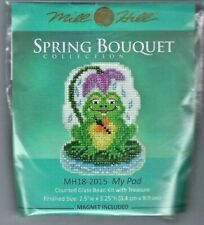 My Pad Frog Lily Glass Bead Kit Spring Series Mill Hill Cross Stitch