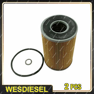 2 x Wesfil Oil Filters for Jeep J10 3.3L 6Cyl 12V OHV Ute Diesel 11/82-1985