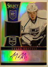"2013/14 TYLER TOFFOLI PANINI SELECT ""PRIZM"" AUTO JERSEY ROOKIE RC / 99"
