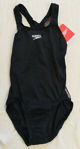 Speedo Women's Black Endurance Medalist Swimsuit Size UK 8 30 New With Tags
