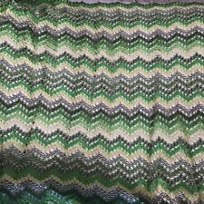 3 yards Vtg  Mid century Chevron knit lace sewing fabric overlay stretch 54 wide