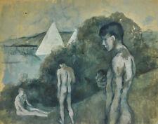 Pavel Tchelitchew The Bathing Boys Canvas Print 16 x 20       #4500