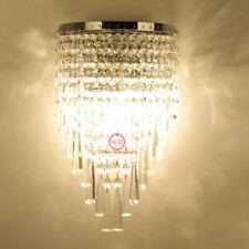 Modern K9 Kristall Chrom Wandleuchten Wandlampe für Flur Treppe Übernachtung Neu
