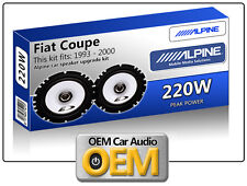 "FIAT COUPE PORTA ANTERIORE ALPINE 17cm 6.5 ""AUTO KIT Altoparlante 220W MAX POWER"