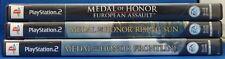 Lot of 3 PS2 Medal of Honor Games Frontline, Rising Sun, European Assault