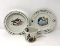 New Peter Rabbit 3-Piece Nursery Set Wedgewood Mug Plate Bowl BEATRIX POTTER