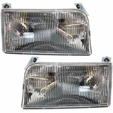 FLEETWOOD BOUNDER 2000 2001 2002 00-02 PAIR FRONT HEAD LIGHTS LAMP RV MOTORHOME