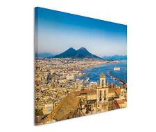 120x80cm Leinwandbild auf Keilrahmen Neapel Italien Panorama