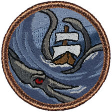 Awesome Boy Scout Patrol Patch! - #527 The Kraken Sea Monster Patrol!