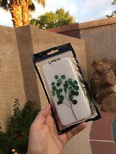 iPhone 6 Phone Case Green Leaves White Flexible Cute