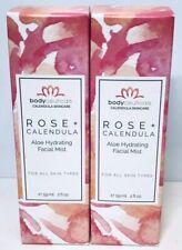 Bodyceuticals Rose+Calendula Aloe Hydrating Facial Mist, 2oz, Lot of 2 0891