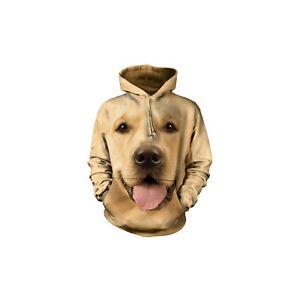 The Mountain Adult Big Face Golden Pet Dog Animal Hoodie