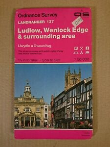 Landranger 137 Map Ludlow Wenlock Edge O S Ordnance Survey 1985