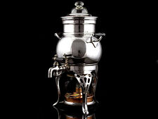 c1920 Usa Silver Plated Coffee Percolator & Burner