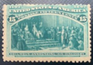 1893 Columbian 15 cent US Stamp #238 MHH