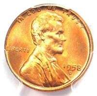 1958-D Lincoln Wheat Cent Penny 1C - PCGS MS67+ RD Plus Grade - $2,750 Value!