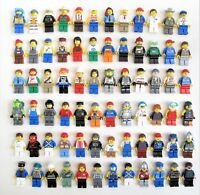 LEGO 10 Minifigures from Huge Lot Bulk Minifigs City Town Pirates Girl Boy NEW!