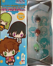 Code Geass Lelouch Suzaku C.C. Chara Fortune Special Stage1 Fastener Charm Set