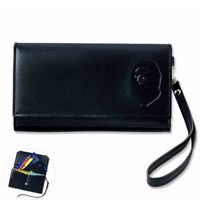 A Bathing Ape Bape Leather Head Embossed Logo Wallet Purse Card Holder Pouch Bag