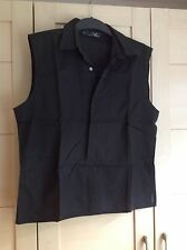 Jasper Conran mens sleeveless 100% cotton muscle top with buttons in black