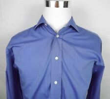 fil a fil Mens Dress Shirt Size 41 EUR Large US Blue Cotton French Cuffs Paris
