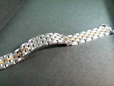 Cartier Panthere two tone stainless steel & solid gold Ladies 12mm bracelet band