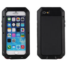 Waterproof Shockproof Aluminum Metal Glass Case Cover for iPhone 6 & 6 Plus