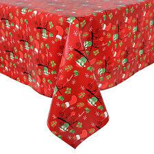 PVC Christmas Table Tablecloths