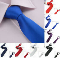 Fashion Men Solid Plain Formal Silk Tie Jacquard Woven Wedding Party Necktiegift