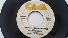 """MIGUEL MENDOZA """"EL PASTOR"""" Mariachia - Corrido De Herminia Mendez 70's RANCHERA"""