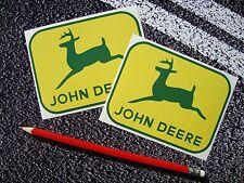 2 x john deere autocollants decals agriculture tracteur cultures agriculture
