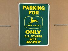 Parking For John Deere Only All Funny Gift PVC Street Sign Bar Man Cave 8.5 * 12