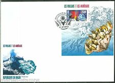 NIGER 2013 VOLCANOES & MINERALS SOUVENIR SHEET FIRST DAY COVER
