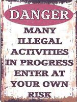 """10/"""" x 8/"""" KEEP OUT TEENAGER PARENTS MUM DAD BEDROOM WARNING METAL PLAQUE SIGN 192"""