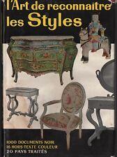 L'ART DE RECONNAÎTRE LES STYLES FRANCE ANGLETERRE HOLLANDE ITALIE ESPAGNE