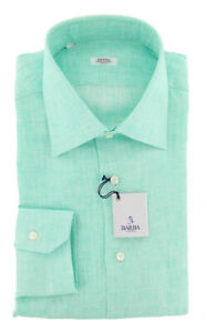 New Barba Napoli Green Solid Shirt - Slim - 16/41 - (D2U10T0000P22)